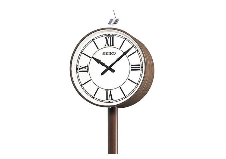 Solar-Powered Double-Faced Pole Clock(Outdoor/Rainproof)